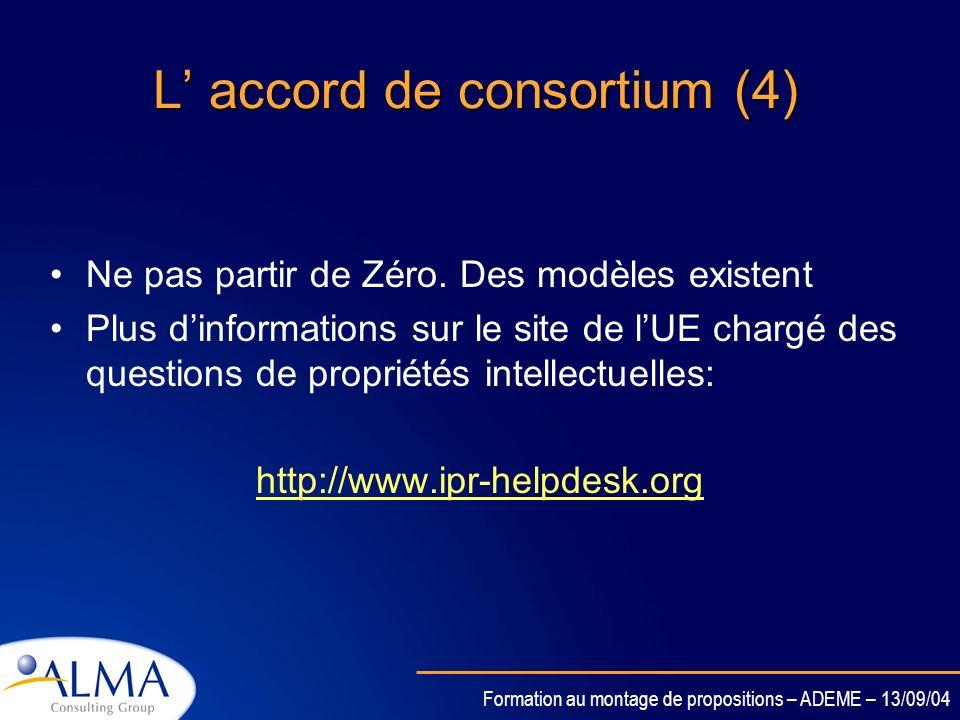 L' accord de consortium (4)