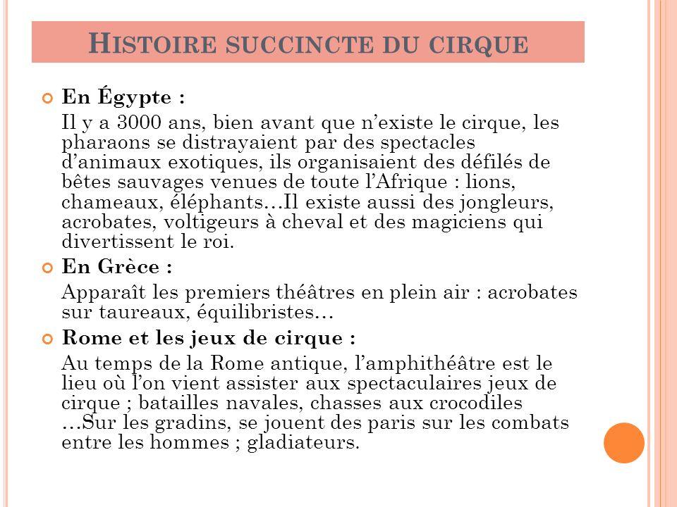 Histoire succincte du cirque