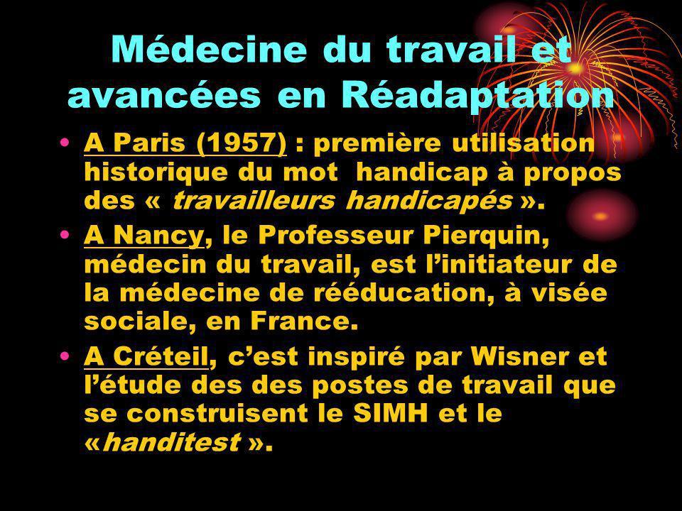 Médecine du travail et avancées en Réadaptation