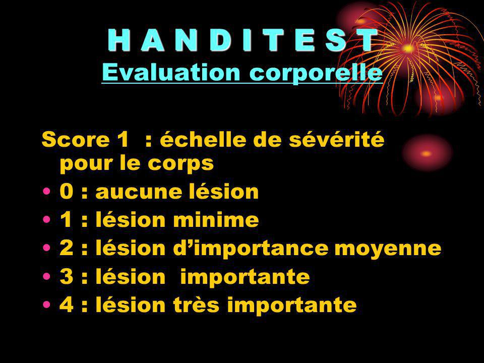 H A N D I T E S T Evaluation corporelle