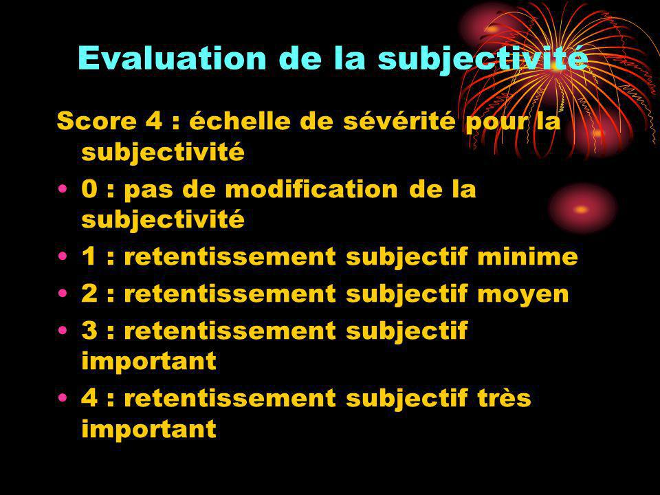 Evaluation de la subjectivité