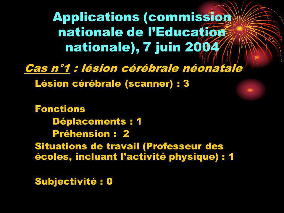 Applications (commission nationale de l'Education nationale), 7 juin 2004