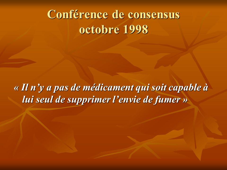 Conférence de consensus octobre 1998