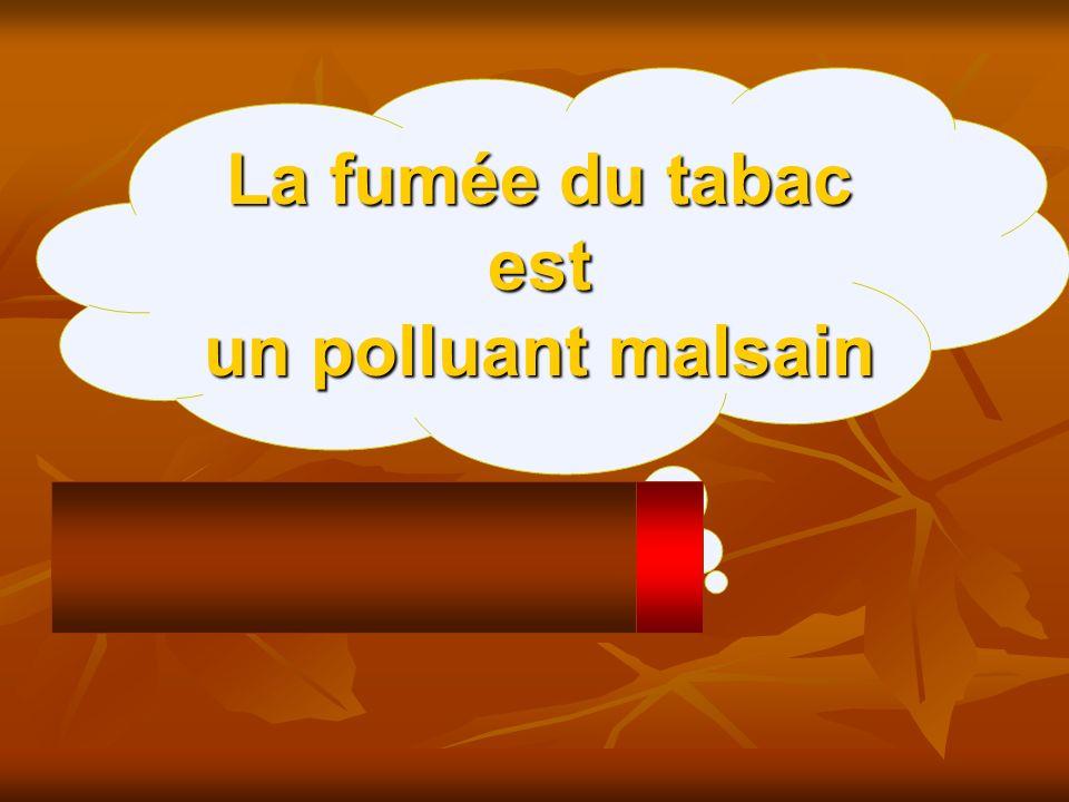 La fumée du tabac est un polluant malsain