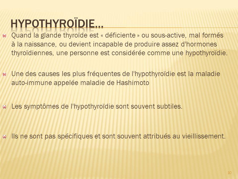 Hypothyroïdie…