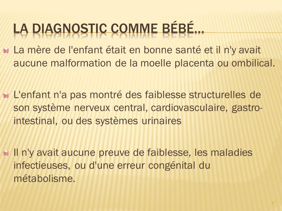 La diagnostic comme bébé…