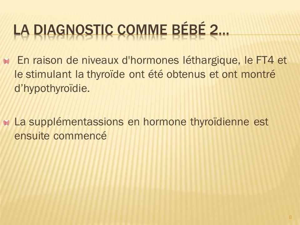 La diagnostic comme bébé 2…
