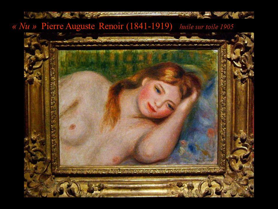 « Nu » Pierre Auguste Renoir (1841-1919) huile sur toile 1905