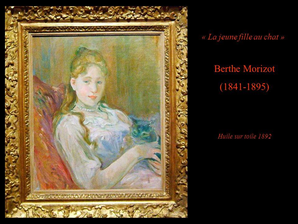 Berthe Morizot (1841-1895) « La jeune fille au chat »