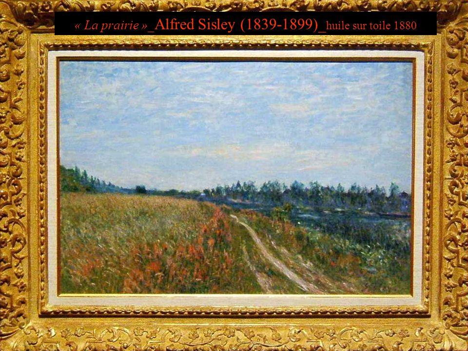 « La prairie »_Alfred Sisley (1839-1899)_huile sur toile 1880