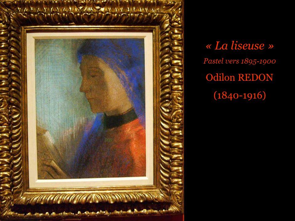 « La liseuse » Pastel vers 1895-1900 Odilon REDON (1840-1916)