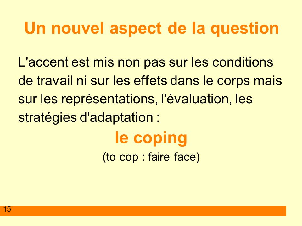 Un nouvel aspect de la question
