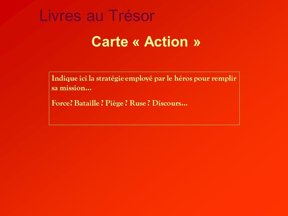 Livres au Trésor Carte « Action »
