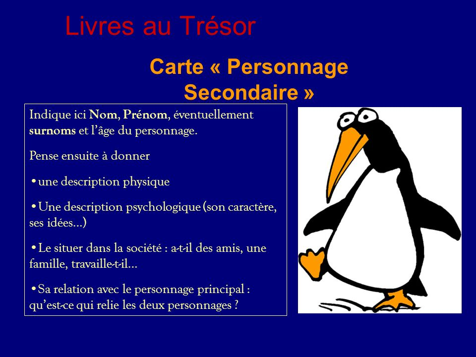 Carte « Personnage Secondaire »