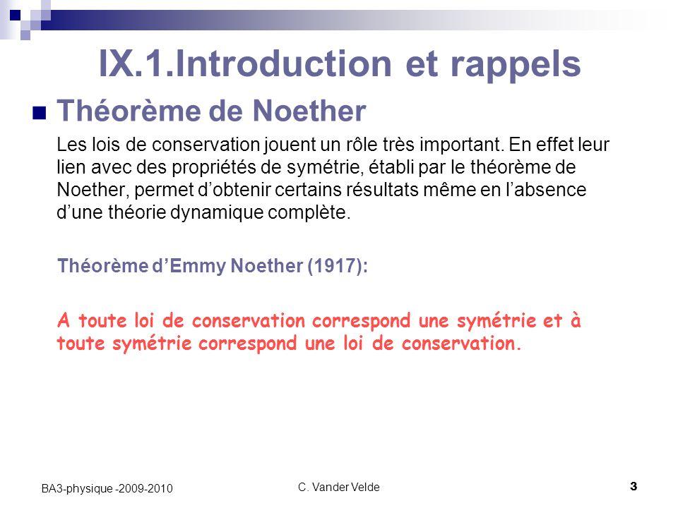 IX.1.Introduction et rappels