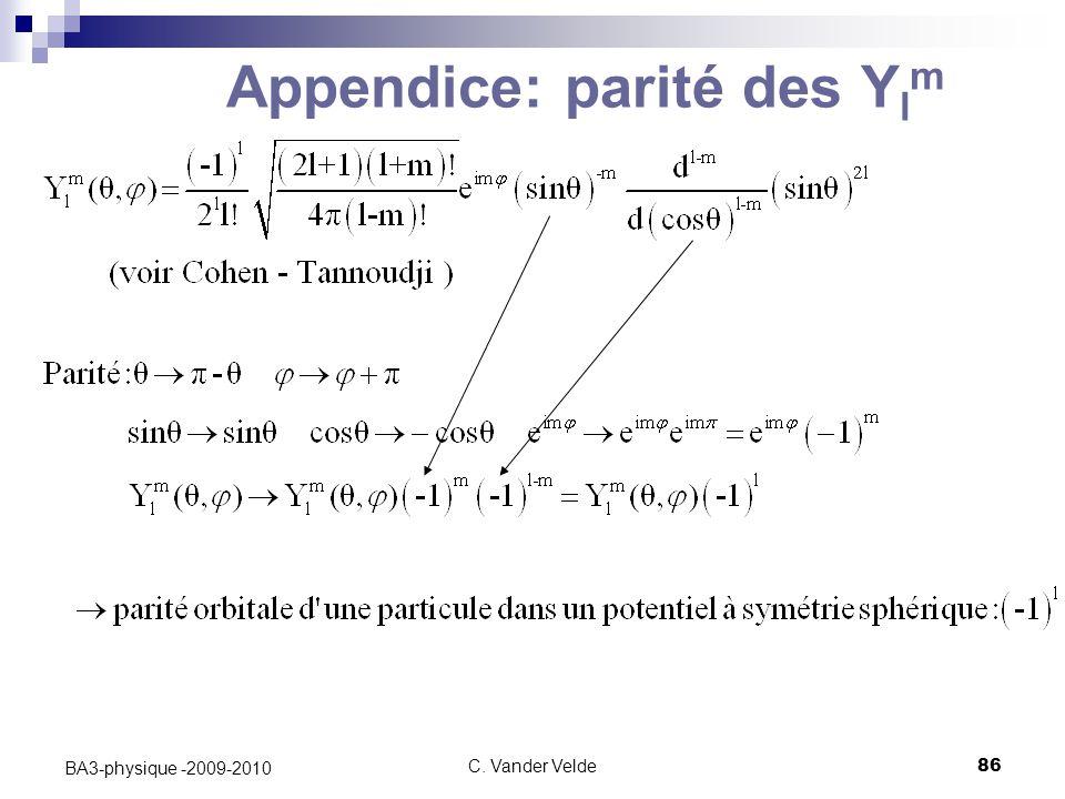 Appendice: parité des Ylm