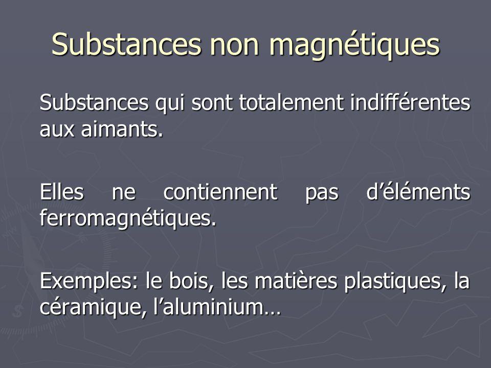 Substances non magnétiques