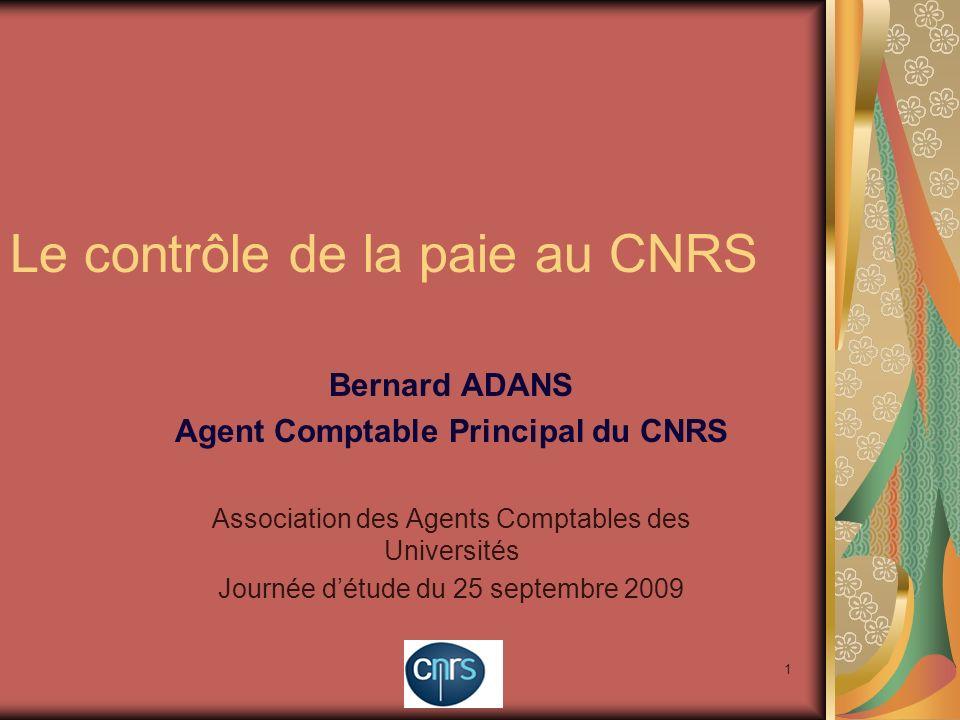 Le contrôle de la paie au CNRS