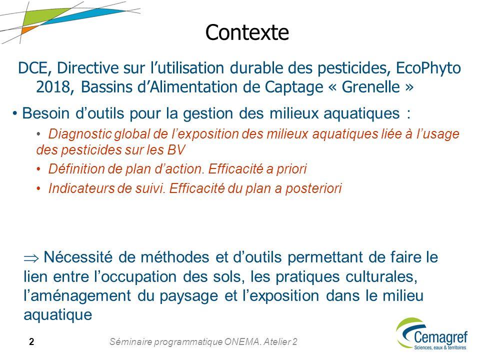 Contexte DCE, Directive sur l'utilisation durable des pesticides, EcoPhyto 2018, Bassins d'Alimentation de Captage « Grenelle »