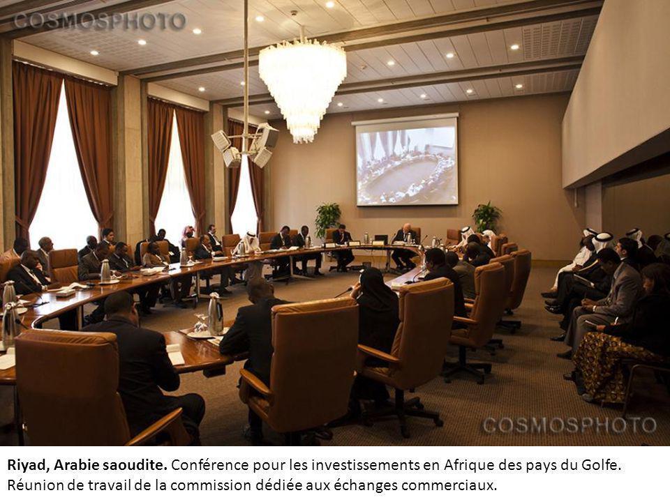 Riyad, Arabie saoudite. Conférence pour les investissements en Afrique des pays du Golfe.