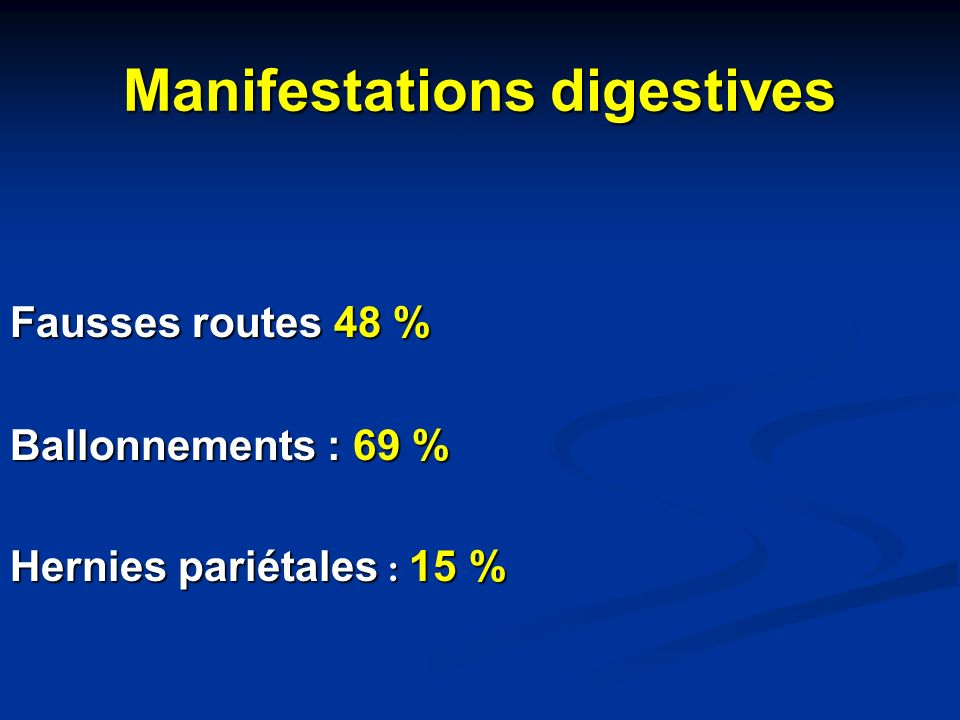 Manifestations digestives