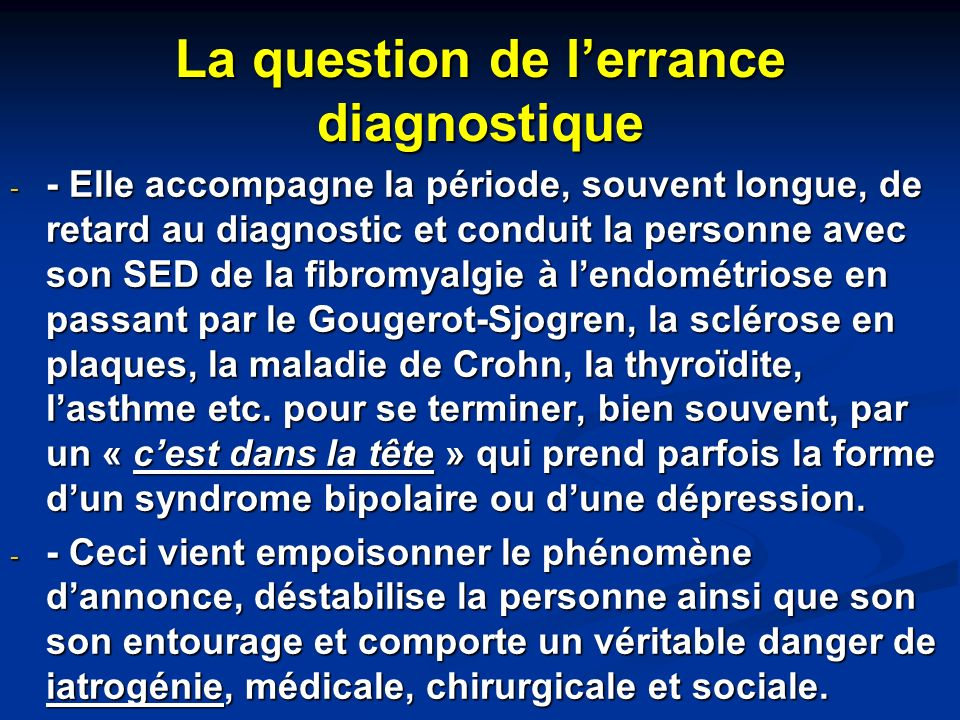 La question de l'errance diagnostique