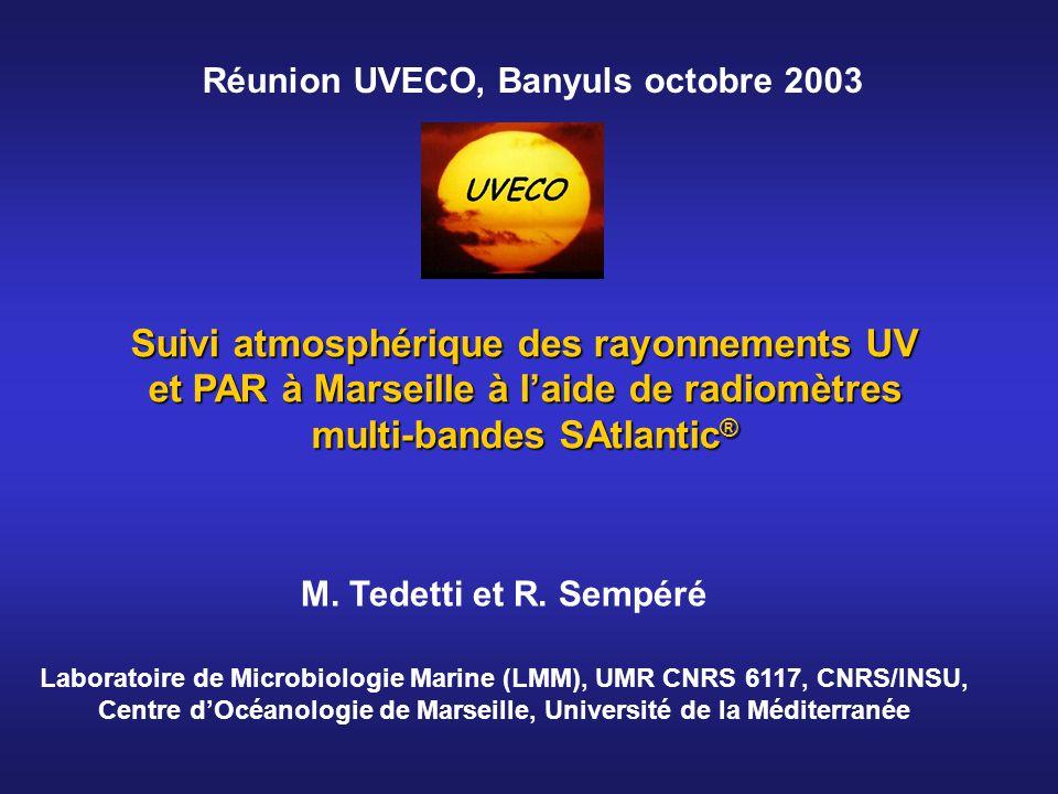 Réunion UVECO, Banyuls octobre 2003