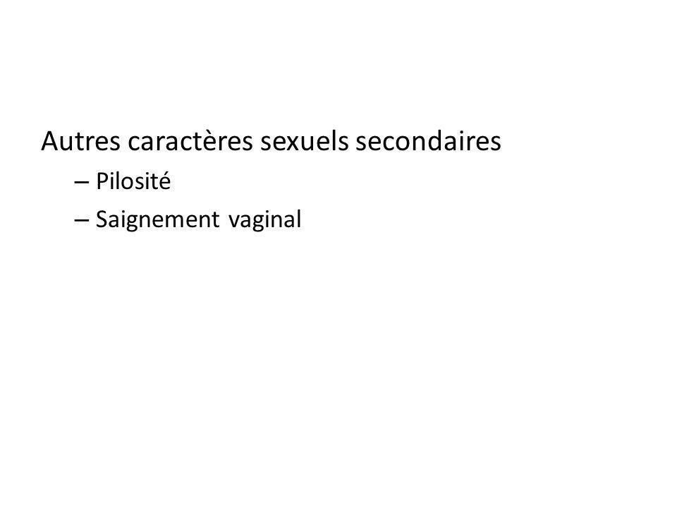 Autres caractères sexuels secondaires