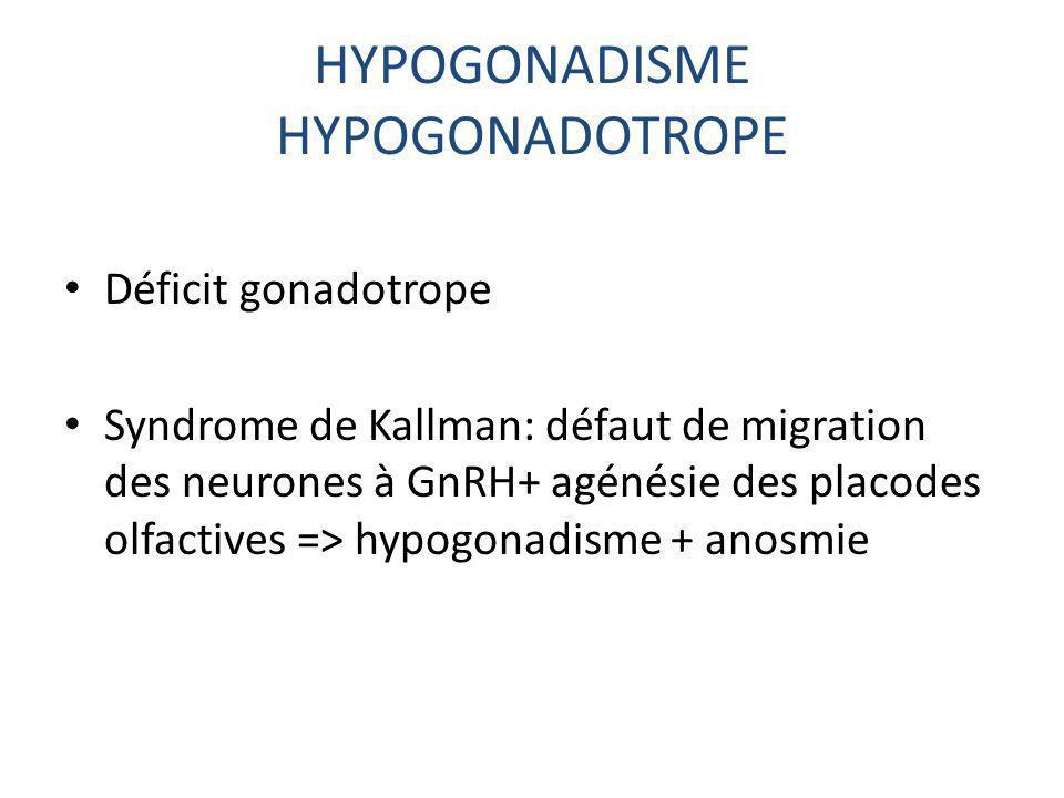 HYPOGONADISME HYPOGONADOTROPE
