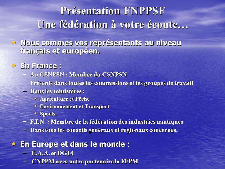 Présentation FNPPSF Une fédération à votre écoute…