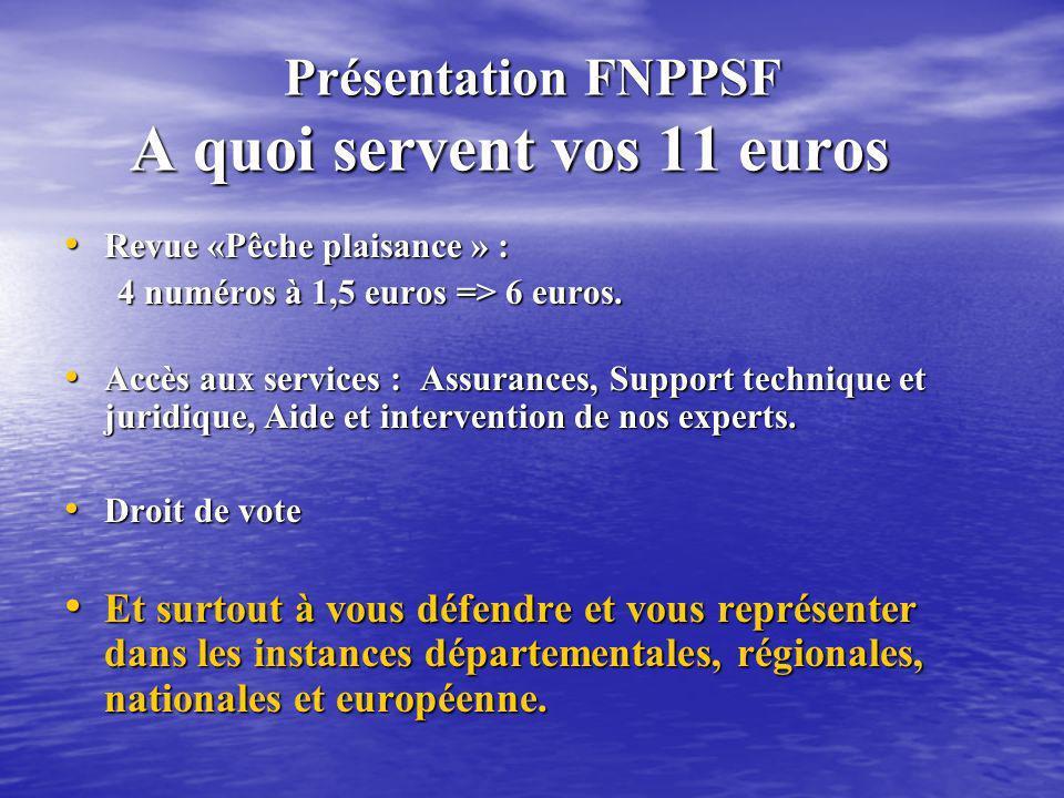 Présentation FNPPSF A quoi servent vos 11 euros
