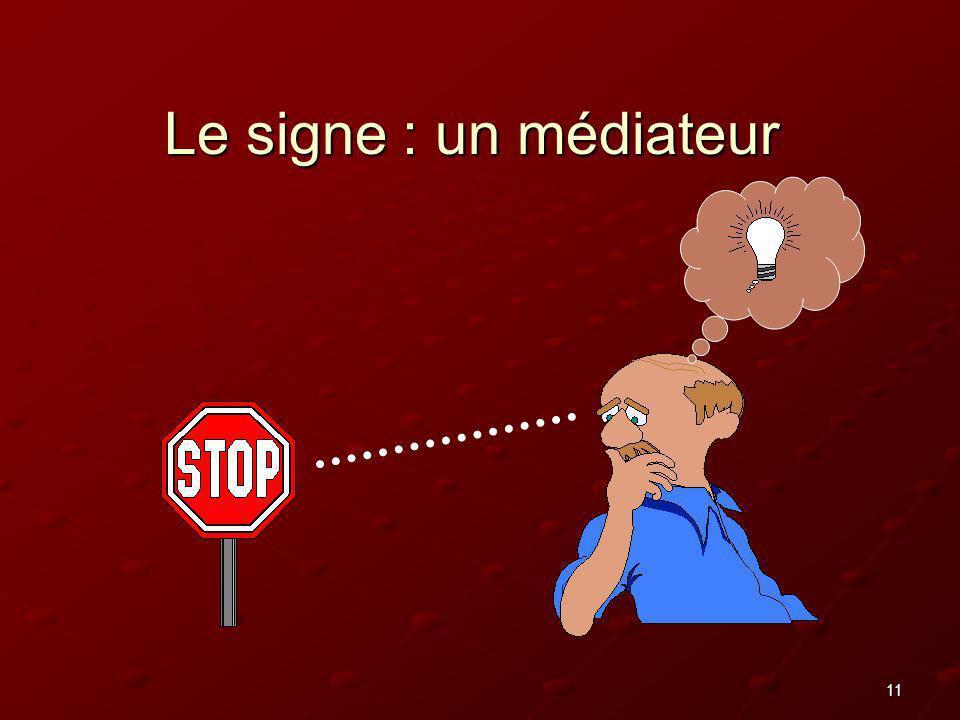 Le signe : un médiateur
