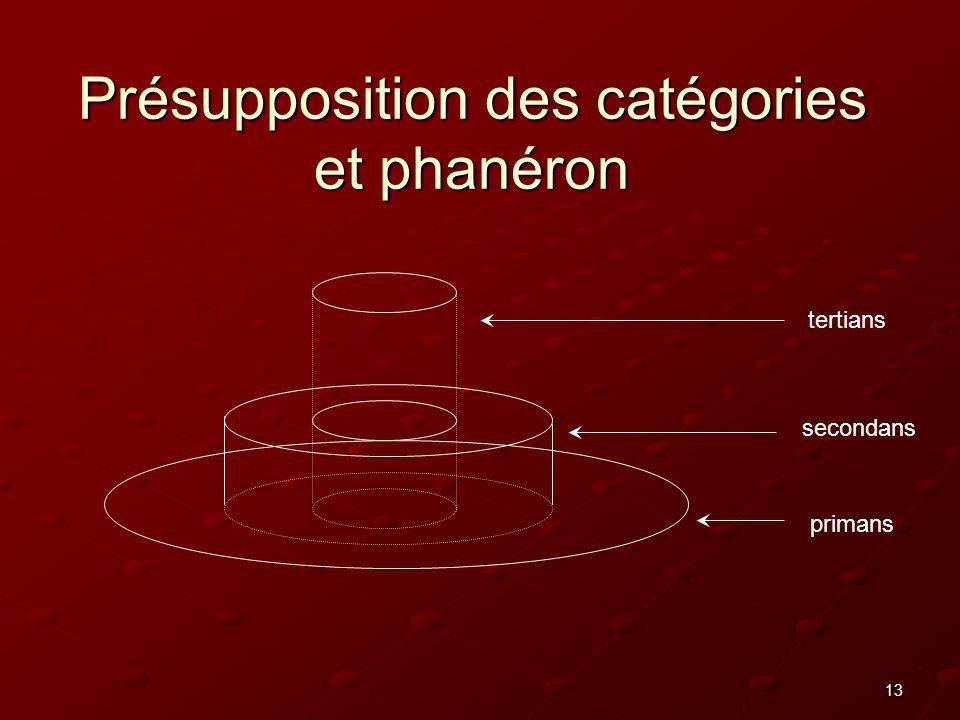 Présupposition des catégories et phanéron