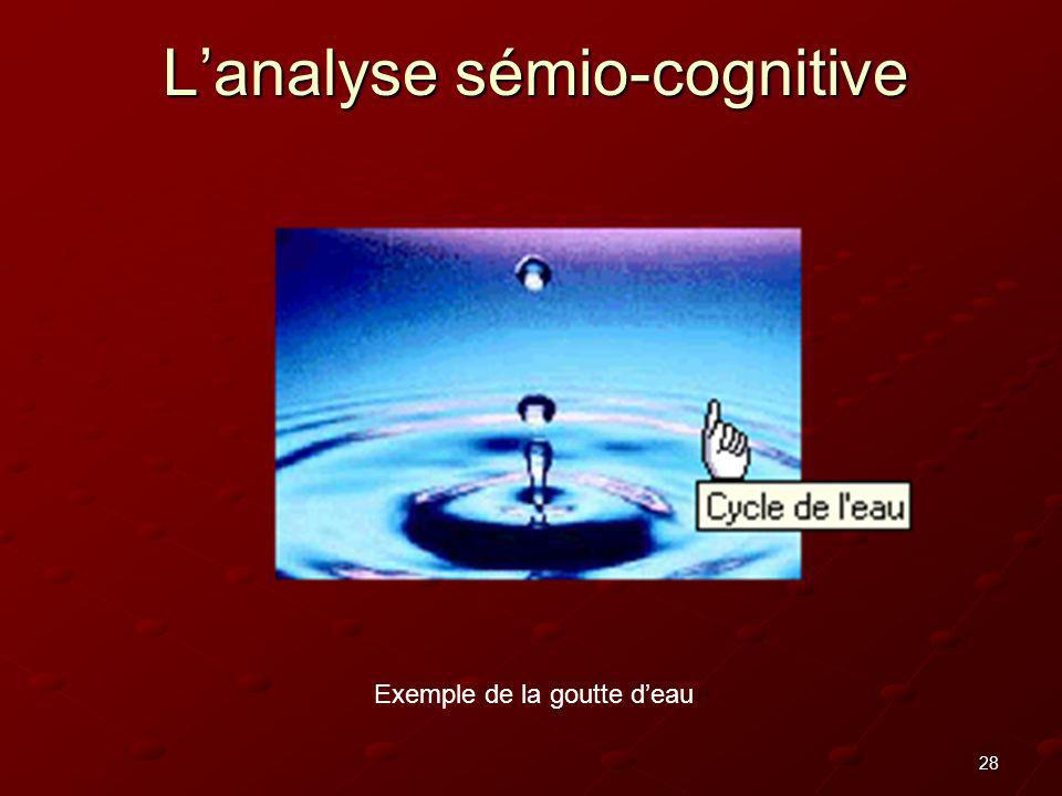 L'analyse sémio-cognitive