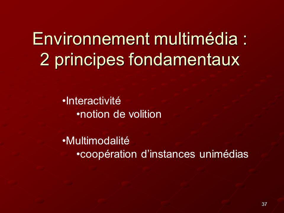 Environnement multimédia : 2 principes fondamentaux