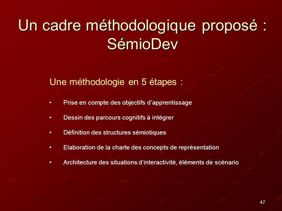 Un cadre méthodologique proposé : SémioDev