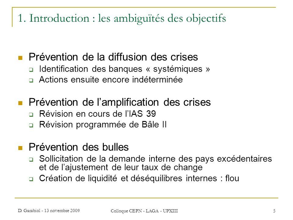 1. Introduction : les ambiguïtés des objectifs