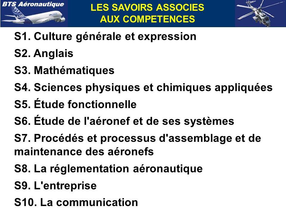 S1. Culture générale et expression S2. Anglais S3. Mathématiques