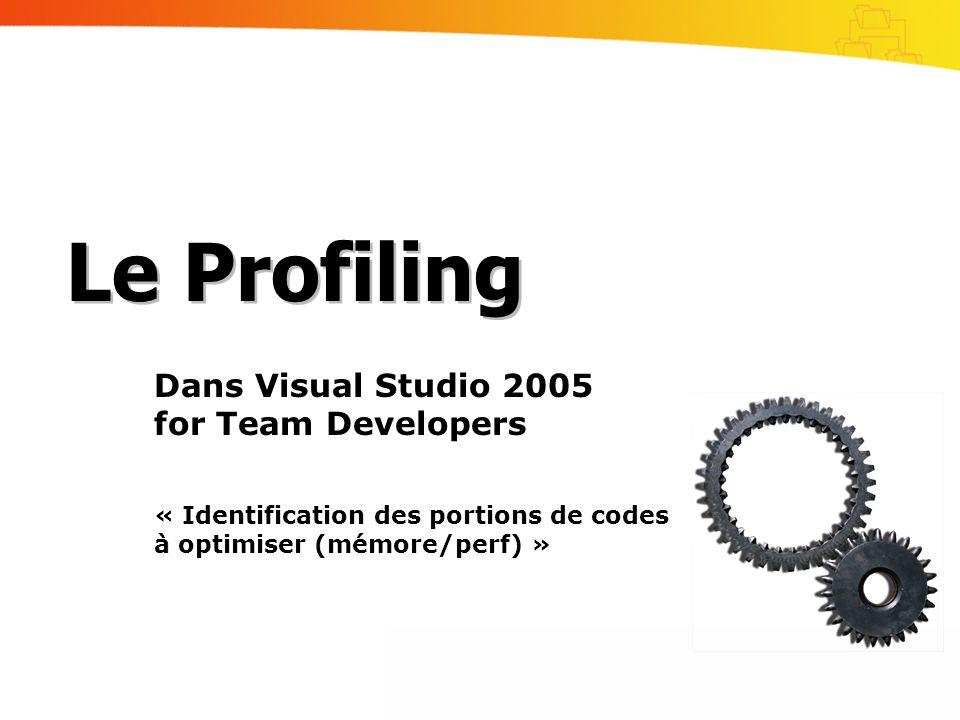 Le Profiling Dans Visual Studio 2005 for Team Developers