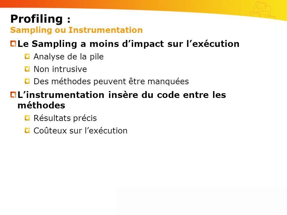 Profiling : Sampling ou Instrumentation