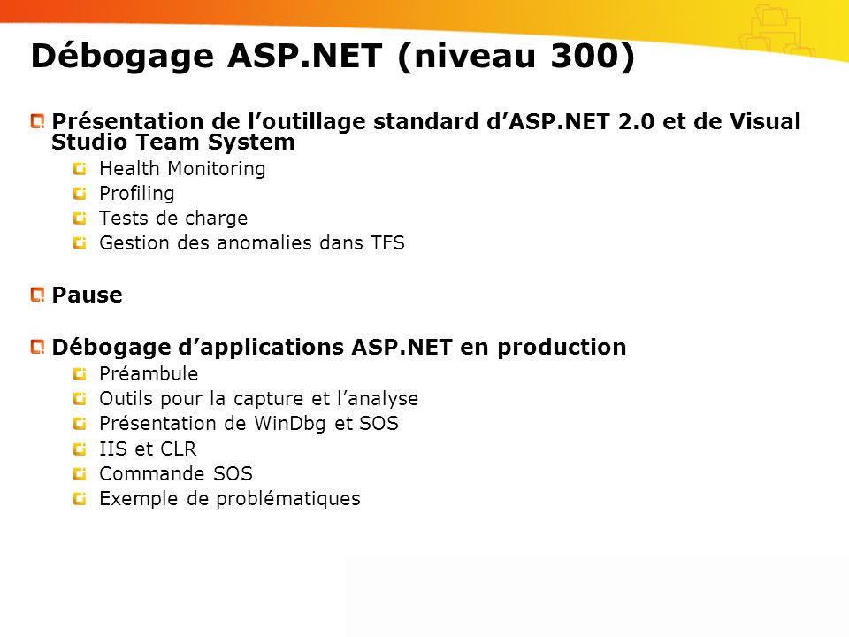 Débogage ASP.NET (niveau 300)