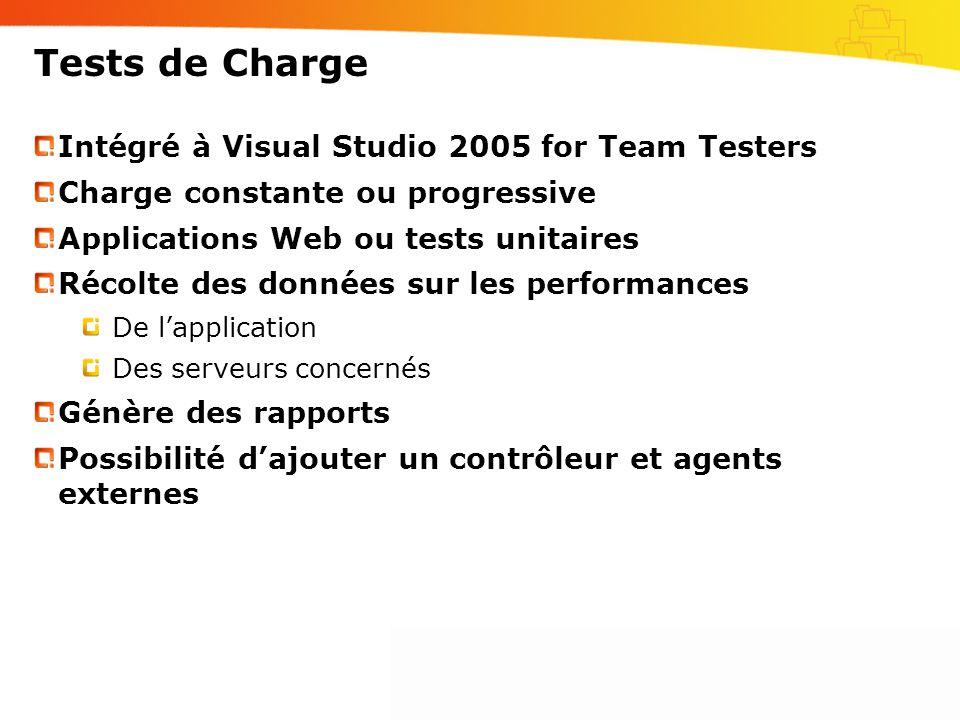 Tests de Charge Intégré à Visual Studio 2005 for Team Testers