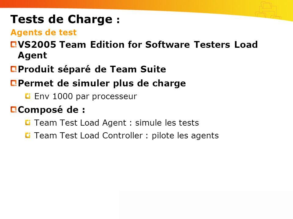 Tests de Charge : Agents de test