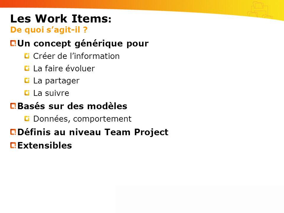Les Work Items: De quoi s'agit-il