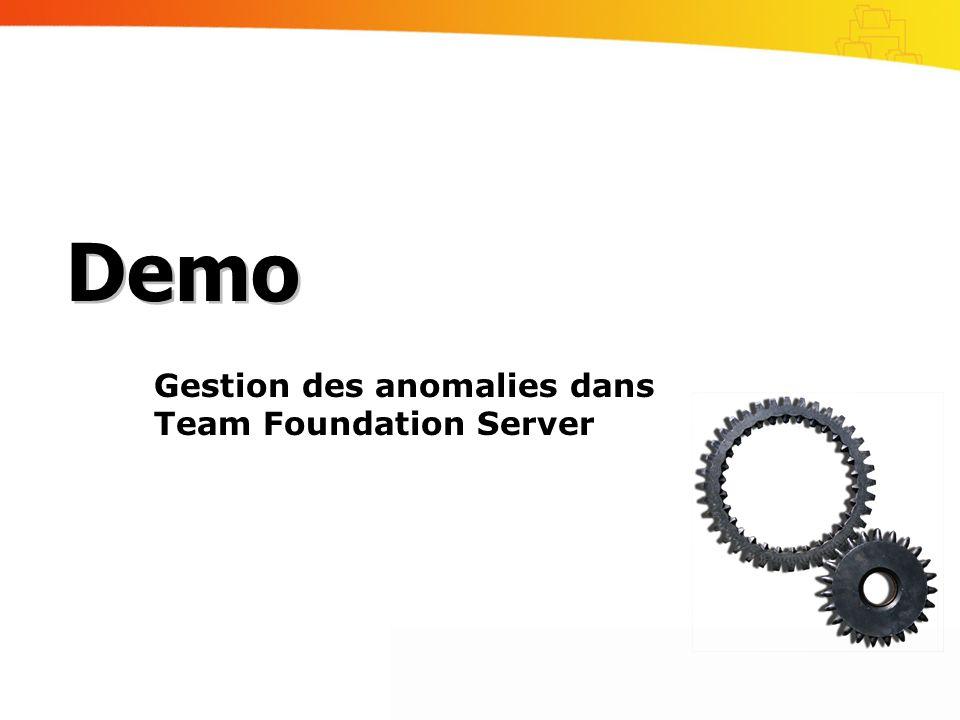 Gestion des anomalies dans Team Foundation Server