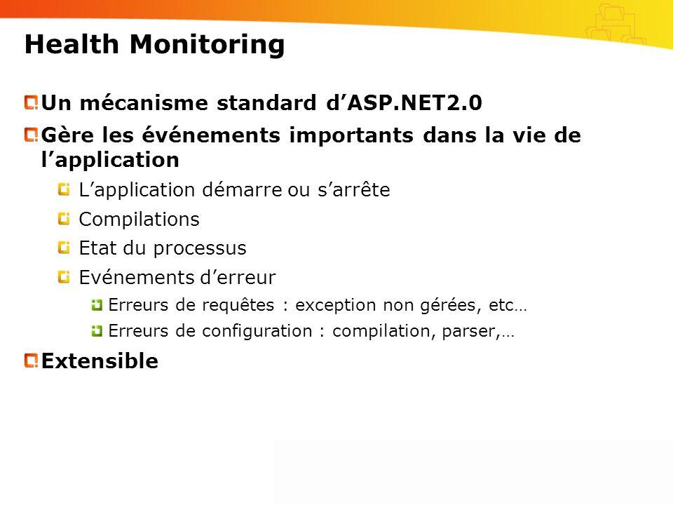 Health Monitoring Un mécanisme standard d'ASP.NET2.0