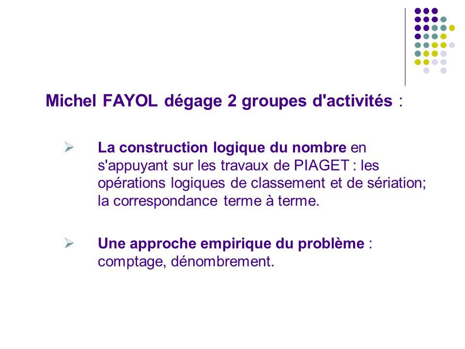 Michel FAYOL dégage 2 groupes d activités :