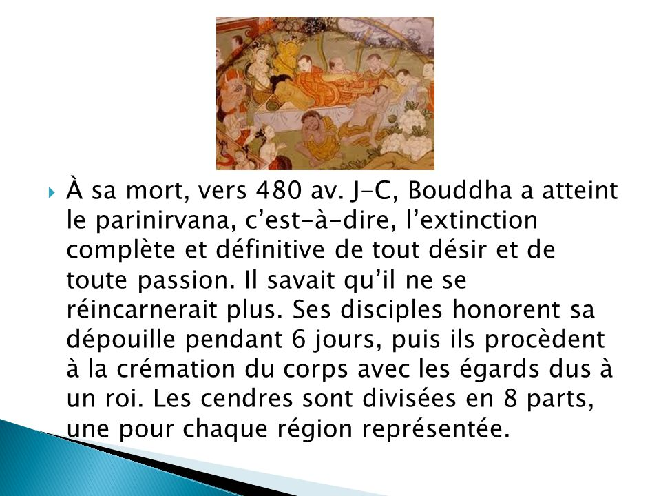 À sa mort, vers 480 av.