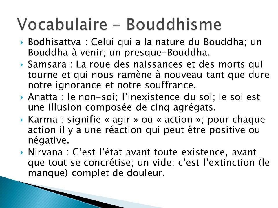 Vocabulaire - Bouddhisme