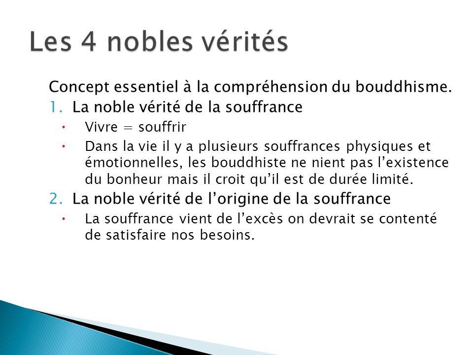 Les 4 nobles vérités Concept essentiel à la compréhension du bouddhisme. La noble vérité de la souffrance.